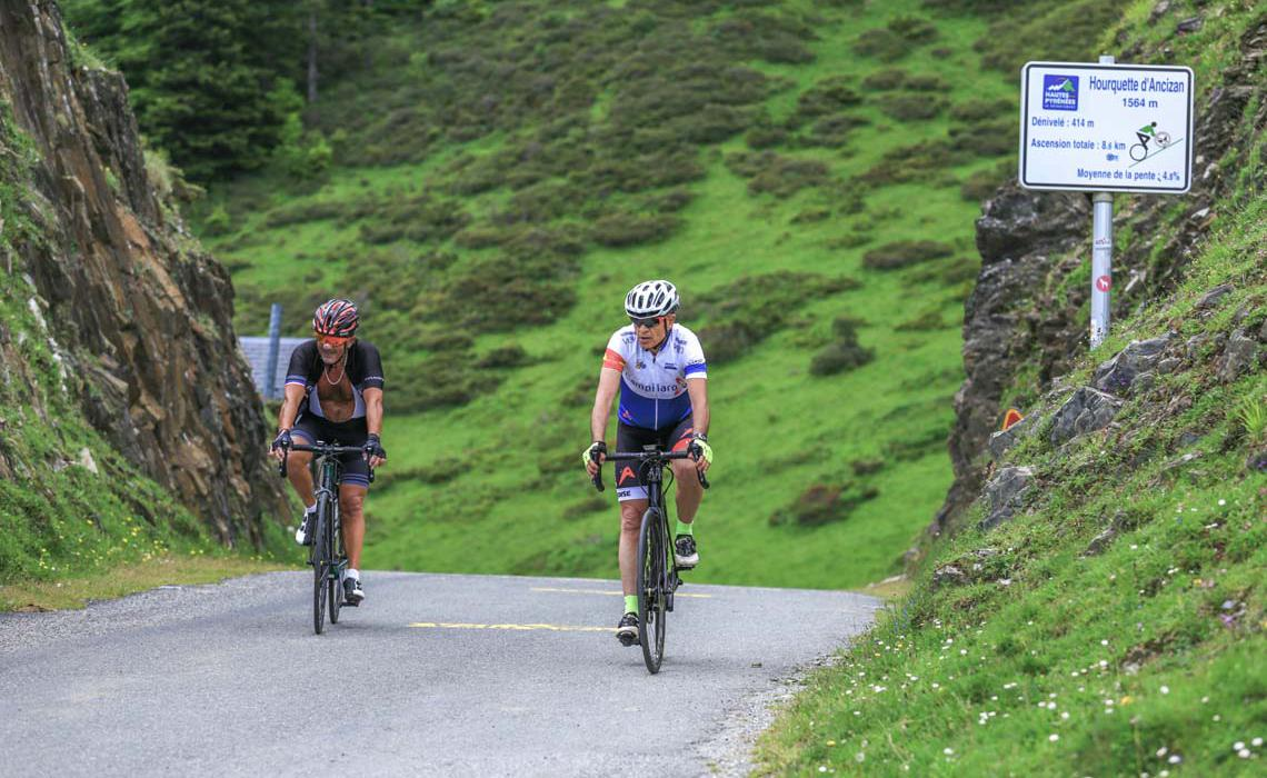 Cycling circuit at the Col d'Aspin